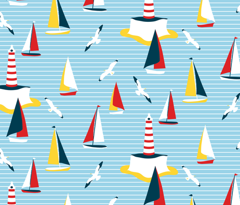 Regatta fabric by kezia on Spoonflower - custom fabric