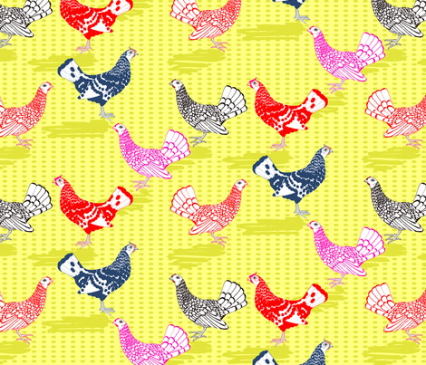 Seabrights and Hamburghs fabric by creative_merritt on Spoonflower - custom fabric