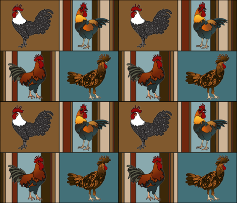pop chicken fabric by lisakarenward on Spoonflower - custom fabric