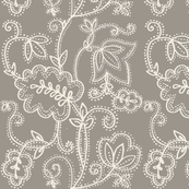 Linen look Flower pattern