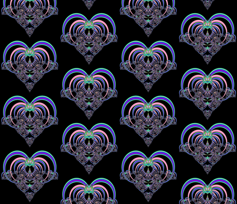 Fractal: Heart in Pinks and Blues fabric by artist4god on Spoonflower - custom fabric