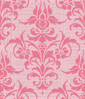 Pink Dawn Over Wuthering Heights Damask