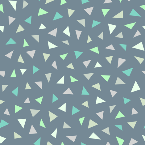Triangle Confetti Grey fabric by kimsa on Spoonflower - custom fabric