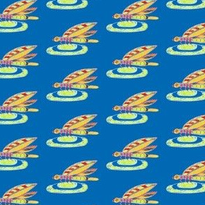 Dragon Fly Doodle blue