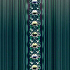 Fractal: Aqua Butterflies and Stripes