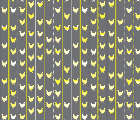 Chickens Crossing the Road fabric by robyriker on Spoonflower - custom fabric