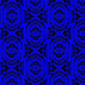 Blue marble batik rose flower 03