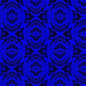 Blue marble batik rose flower 03