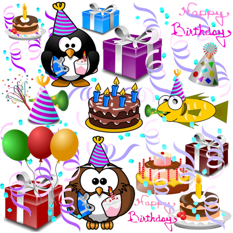 HAPPY BIRTHDAY fabric by bluevelvet on Spoonflower - custom fabric
