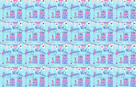 Happy Birthday Celebration fabric by karenharveycox on Spoonflower - custom fabric