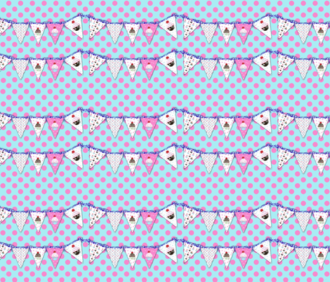 Polka Dots and Banners fabric by karenharveycox on Spoonflower - custom fabric