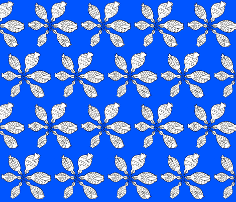 blue0055FF chickens in plan fabric by annemclean on Spoonflower - custom fabric