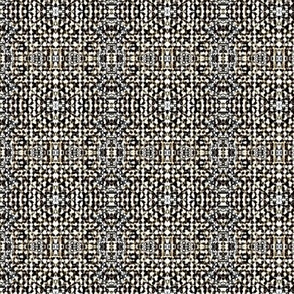 Winsor Weave - brown, charcoal, white, silver