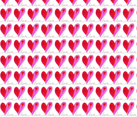 love letter heart fabric by snowdowd on Spoonflower - custom fabric