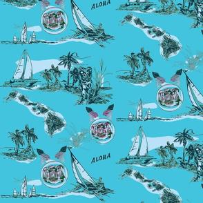 Sailing Hawaiian Style bluegreen