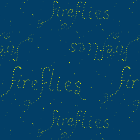 Fireflies, literally fabric by su_g on Spoonflower - custom fabric