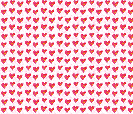 scribble hearts fabric by snowdowd on Spoonflower - custom fabric