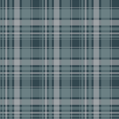 blue/ blue plaid 2014 fabric by alainasdesigns on Spoonflower - custom fabric