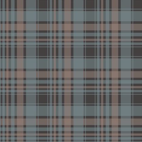 brown/blue plaid fabric by alainasdesigns on Spoonflower - custom fabric