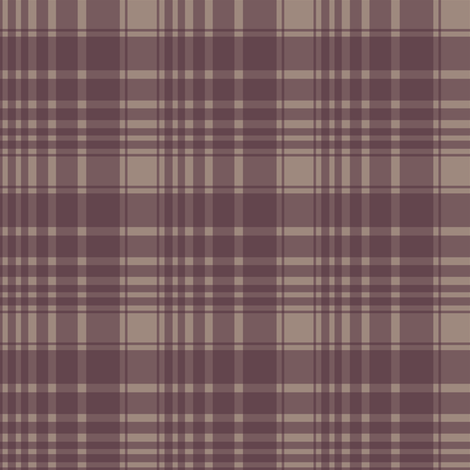 berry/tan plaid fabric by alainasdesigns on Spoonflower - custom fabric