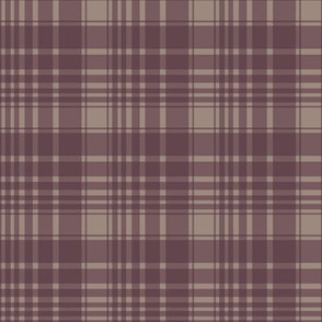 berry/tan plaid