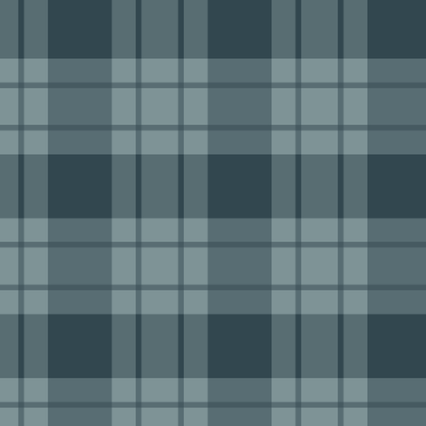 Large blue stripe/blue plaid