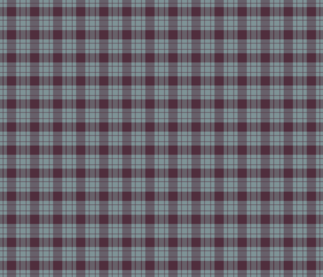 Large blue stripe/ berry plaid