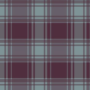 Thin Blue Stripe/ Berry Plaid