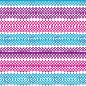 gingham_chevron_tricolor-hearts ribbons-baby