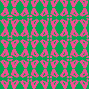 Butterfly Yoga green pink