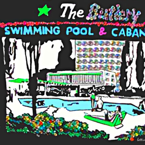 Cabana and Pool retro large