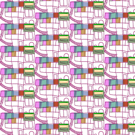 Busy Fun on the Escalator fabric by boris_thumbkin on Spoonflower - custom fabric