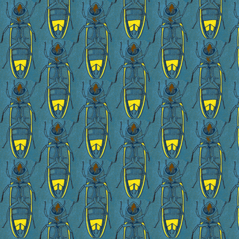 March of the Firefly Army fabric by edsel2084 on Spoonflower - custom fabric