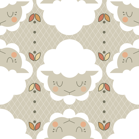 Grey Lamb fabric by brandipowell on Spoonflower - custom fabric
