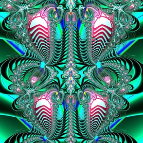 Fractal: Peacock Feathers