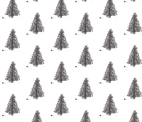 little_christmas_tree fabric by nicolej on Spoonflower - custom fabric