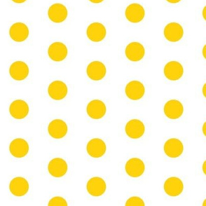 Yellow Dots on White