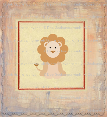 baby lion quilt blocks