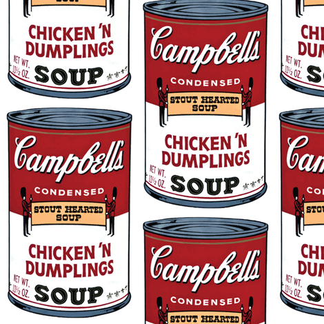 Retro Campbell's Soup fabric by pixeldust on Spoonflower - custom fabric