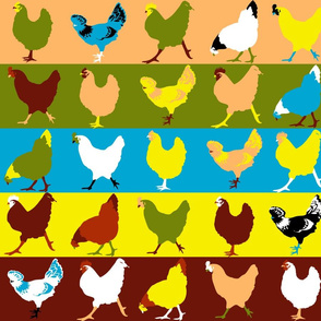 Pop Chickens Large Print