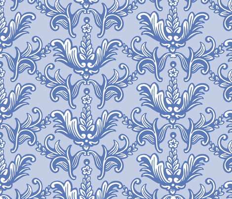 Blue on Blue Toile