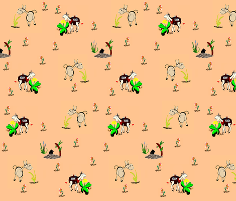 Dunkeys fabric by retroretro on Spoonflower - custom fabric