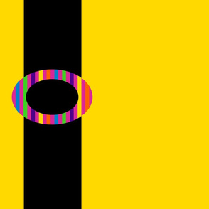 Black Belt on Yellow