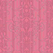 Pink Dawn ~ Pink Damask Stripe II