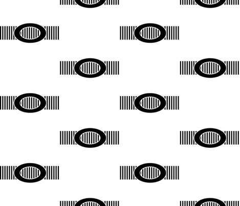 Black Buckle on a Ridged Belt fabric by anniedeb on Spoonflower - custom fabric