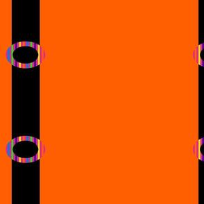 Black Suspenders on Orange
