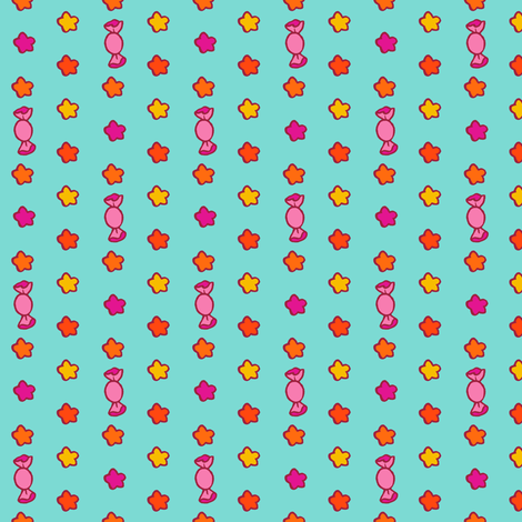 Bollywood Birthday Candy Dot (Teal) fabric by aimee on Spoonflower - custom fabric