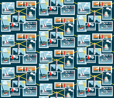 Sailing_by_Sylvie fabric by art_on_fabric on Spoonflower - custom fabric