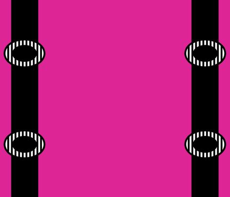 Black Suspenders on Pink fabric by anniedeb on Spoonflower - custom fabric