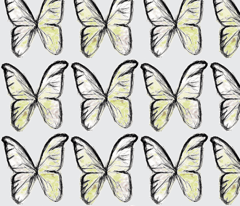 Spring butterflies fabric by mezzime on Spoonflower - custom fabric